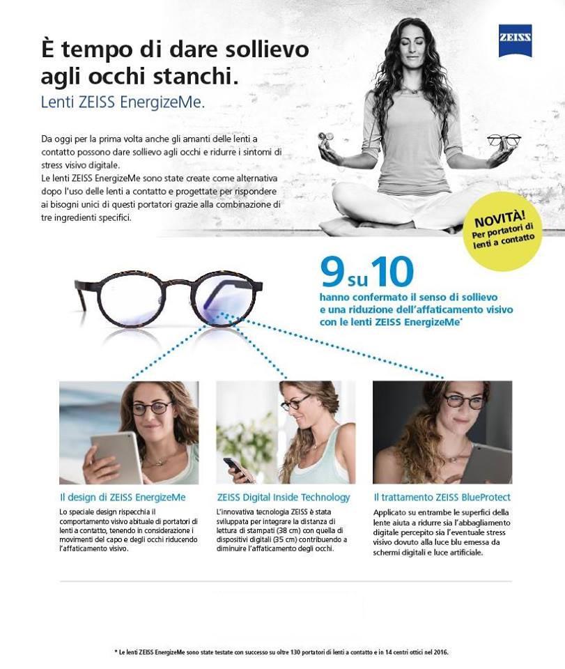 d6e13d64414fe Energize Me - I nuovi occhiali per portatori di lenti a contatto. Lo sapete  che esistono lenti per occhiali in grado di ridurre lo stress visivo e dare  ...